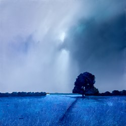 Lavender Blues III by Barry Hilton -  sized 28x28 inches. Available from Whitewall Galleries